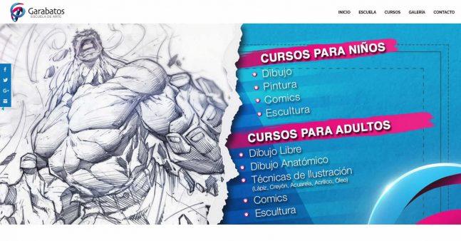 garabatosescueladearte.com previa