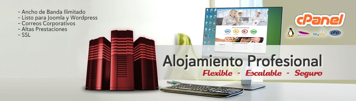 Alojamiento Profesional Flexible-Escalable-Seguro